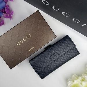 NWT Gucci Leather Microguccissima Tri-Fold Wallet